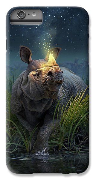 Unicorn iPhone 6 Plus Case - Rhinoceros Unicornis by Jerry LoFaro