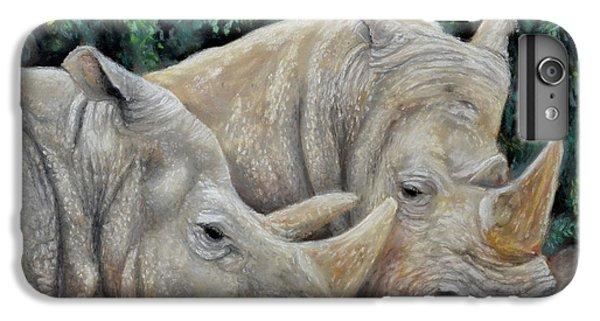 Rhinocerus iPhone 6 Plus Case - Rhinos by Sam Davis Johnson