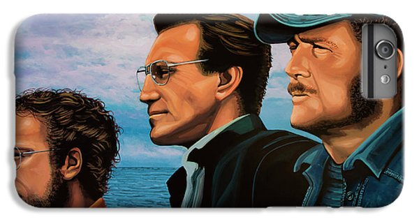 Sharks iPhone 6 Plus Case - Jaws With Richard Dreyfuss, Roy Scheider And Robert Shaw by Paul Meijering