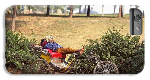 Rickshaw Rider Relaxing IPhone 6 Plus Case by Travel Pics
