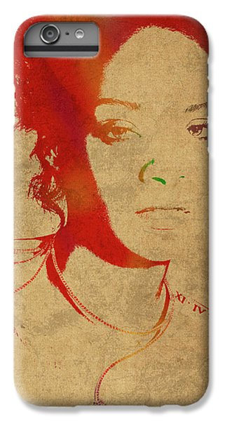 Rihanna Watercolor Portrait IPhone 6 Plus Case by Design Turnpike