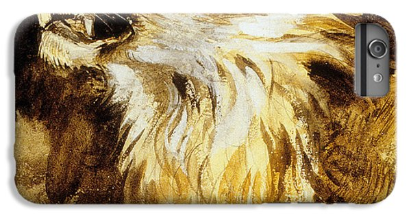 Lion Head iPhone 6 Plus Case - Roaring Lion by Ferdinand Victor Eugene Delacroix