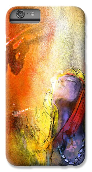Rock Music Jimmy Page iPhone 6 Plus Case - Robert Plant And Jimmy Page 02 by Miki De Goodaboom