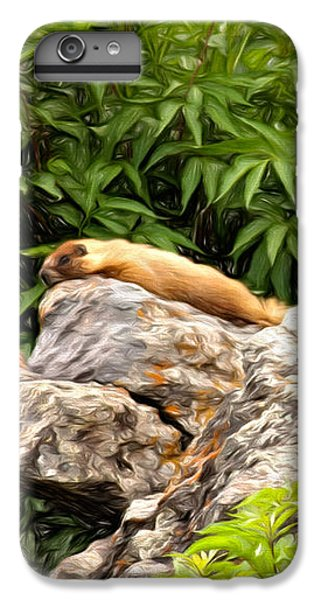 Rock Chuck IPhone 6 Plus Case by Lana Trussell
