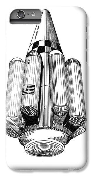 Rombus Heavey Lift Reusable Rocket IPhone 6 Plus Case by Jack Pumphrey