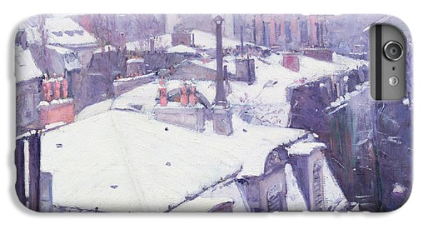 Roofs Under Snow IPhone 6 Plus Case by Gustave Caillebotte