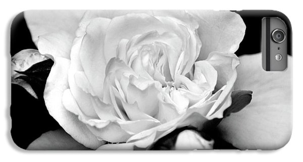 IPhone 6 Plus Case featuring the photograph Rose Black And White by Christina Rollo