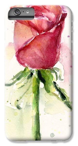Rose Watercolor IPhone 6 Plus Case by Olga Shvartsur