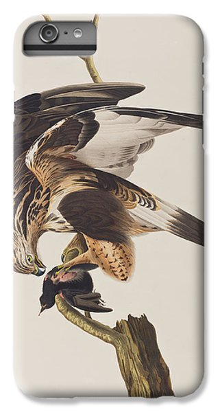 Rough Legged Falcon IPhone 6 Plus Case by John James Audubon