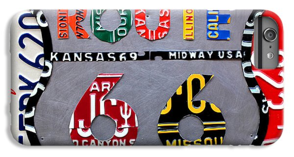 Car iPhone 6 Plus Case - Route 66 Highway Road Sign License Plate Art by Design Turnpike
