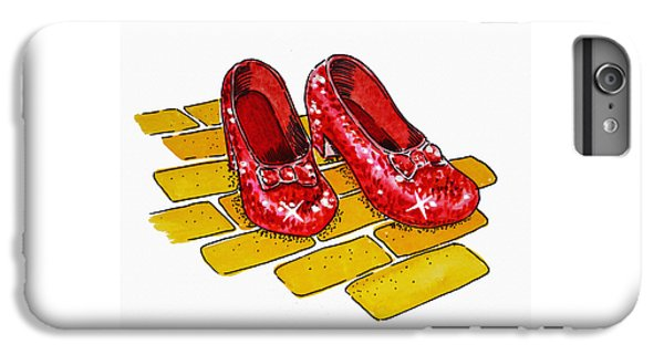 Ruby Slippers The Wizard Of Oz  IPhone 6 Plus Case by Irina Sztukowski