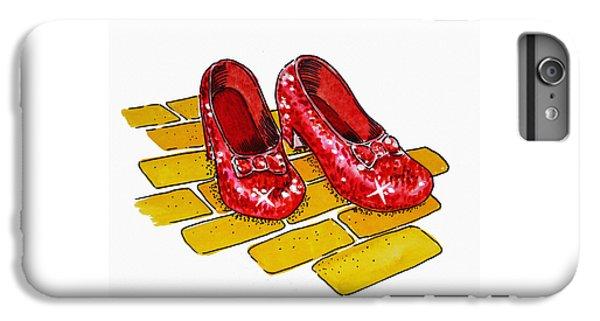 Wizard iPhone 6 Plus Case - Ruby Slippers The Wizard Of Oz  by Irina Sztukowski