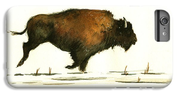 Running Buffalo IPhone 6 Plus Case by Juan  Bosco
