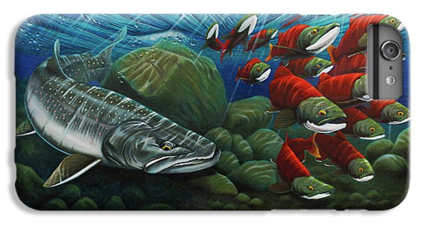 Salmon iPhone 6 Plus Case - Running The Gauntlet by Nick Laferriere