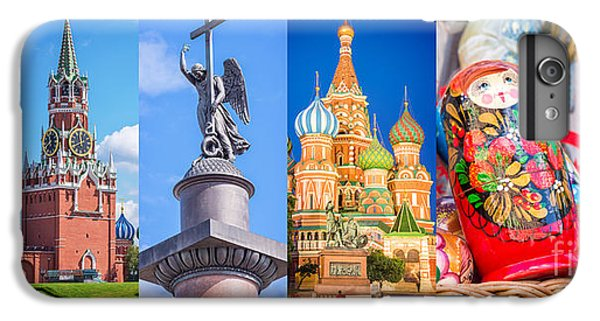 Moscow iPhone 6 Plus Case - Russia Collage by Delphimages Photo Creations
