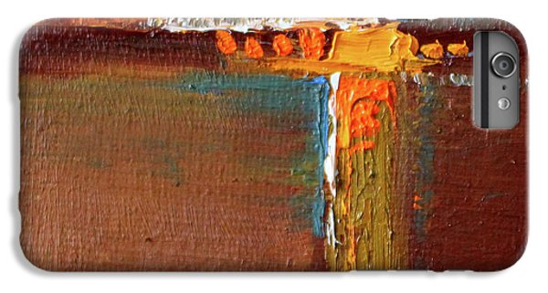 IPhone 6 Plus Case featuring the painting Rust Abstract Painting by Nancy Merkle