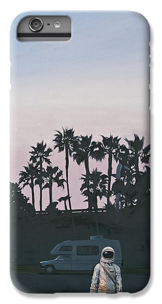 IPhone 6 Plus Case featuring the painting Rv Dusk by Scott Listfield