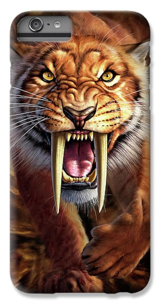 Sabertooth IPhone 6 Plus Case by Jerry LoFaro