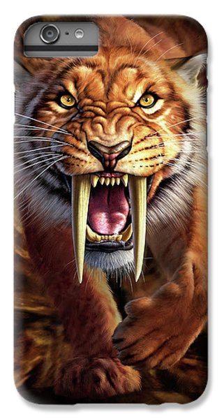Lion iPhone 6 Plus Case - Sabertooth by Jerry LoFaro