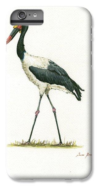 Stork iPhone 6 Plus Case - Saddle Billed Stork by Juan Bosco