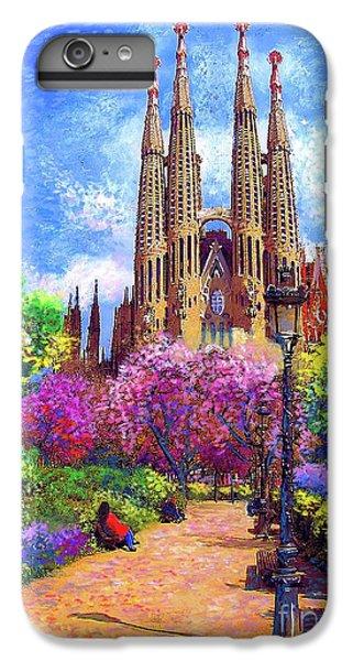 Sagrada Familia And Park,barcelona IPhone 6 Plus Case by Jane Small