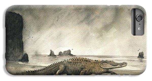 Crocodile iPhone 6 Plus Case - Saltwater Crocodile by Juan Bosco
