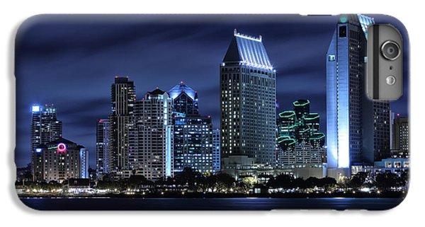 Skylines iPhone 6 Plus Case - San Diego Skyline At Night by Larry Marshall