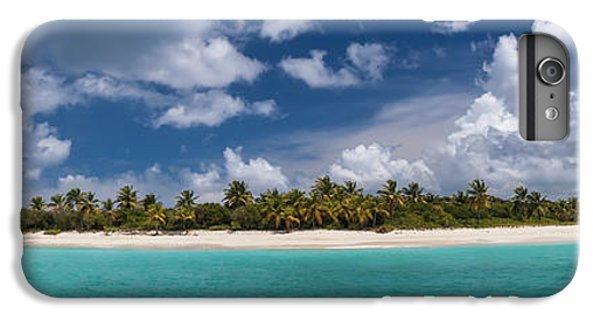 IPhone 6 Plus Case featuring the photograph Sandy Cay Beach British Virgin Islands Panoramic by Adam Romanowicz