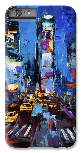 Saturday Night In Times Square IPhone 6 Plus Case by Elise Palmigiani