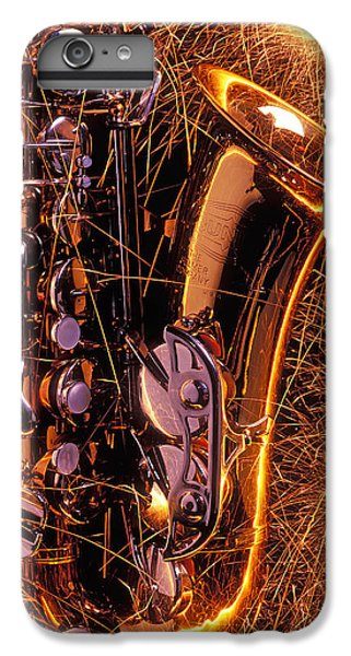 Saxophone iPhone 6 Plus Case - Sax With Sparks by Garry Gay