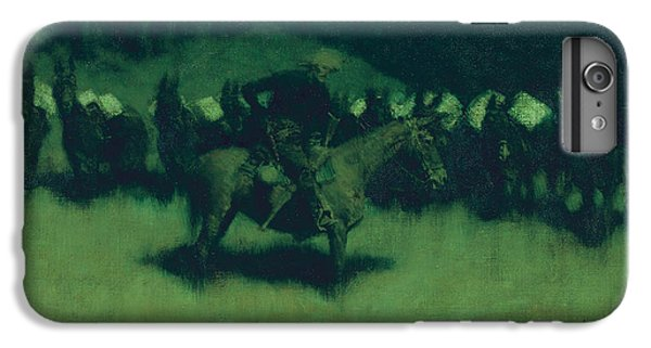Scare In A Pack Train IPhone 6 Plus Case by Frederic Remington