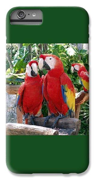 Scarlet Macaws IPhone 6 Plus Case by Ellen Henneke