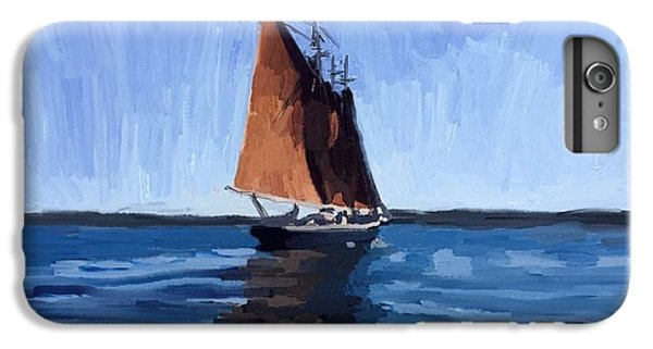 Schooner Roseway In Gloucester Harbor IPhone 6 Plus Case by Melissa Abbott