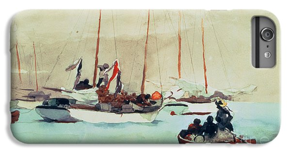Boat iPhone 6 Plus Case - Schooners At Anchor In Key West by Winslow Homer
