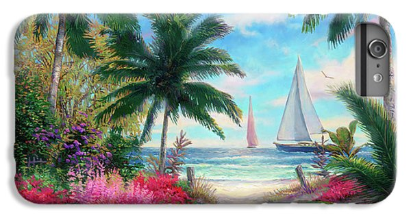 Garden Snake iPhone 6 Plus Case - Sea Breeze Trail by Chuck Pinson