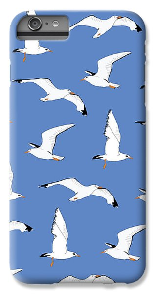 Seagulls Gathering At The Cricket IPhone 6 Plus Case by Elizabeth Tuck