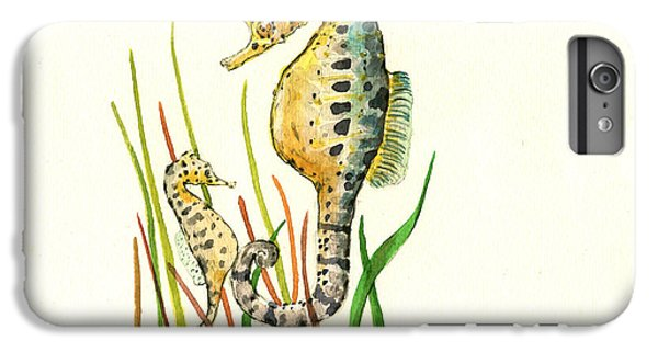 Seahorse Mom And Baby IPhone 6 Plus Case