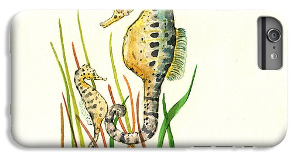 Seahorse Mom And Baby IPhone 6 Plus Case by Juan Bosco