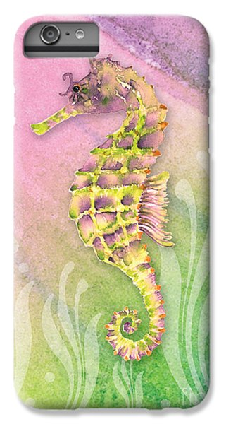 Seahorse Violet IPhone 6 Plus Case by Amy Kirkpatrick