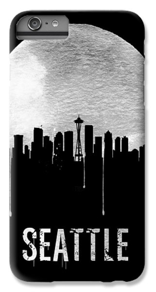 Seattle Skyline Black IPhone 6 Plus Case by Naxart Studio
