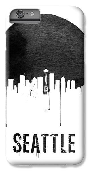 Seattle Skyline White IPhone 6 Plus Case by Naxart Studio