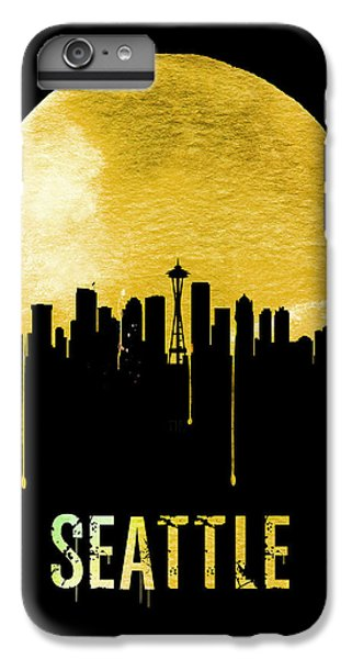 Seattle Skyline Yellow IPhone 6 Plus Case by Naxart Studio