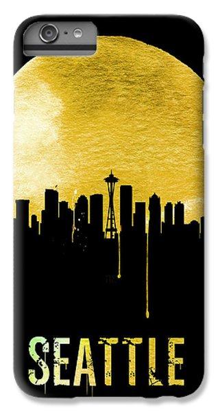 Seattle Skyline Yellow IPhone 6 Plus Case by Naxart Studio