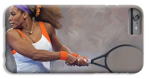 Serena Williams iPhone 6 Plus Case - Serena Williams Artwork by Sheraz A