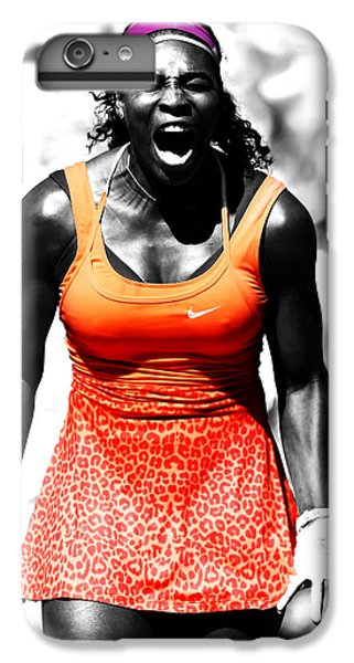 Venus Williams iPhone 6 Plus Case - Serena Williams Fired Up by Brian Reaves