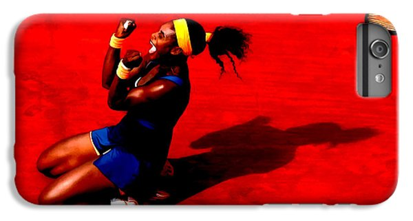 Venus Williams iPhone 6 Plus Case - Serena Williams French Open Victory by Brian Reaves