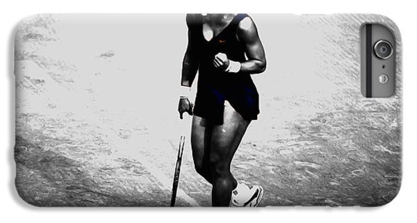 Venus Williams iPhone 6 Plus Case - Serena Williams Match Point 3a by Brian Reaves