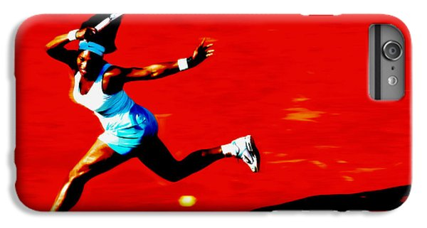 Venus Williams iPhone 6 Plus Case - Serena Williams Never Give Up by Brian Reaves