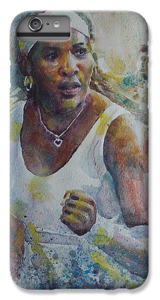 Serena Williams - Portrait 5 IPhone 6 Plus Case by Baresh Kebar - Kibar