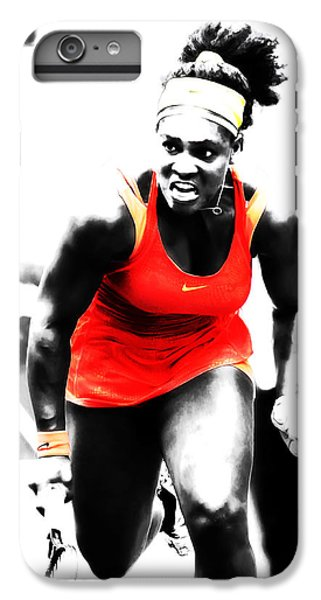 Venus Williams iPhone 6 Plus Case - Serena Williams Go Get It by Brian Reaves